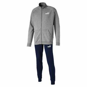 Puma Herren Clean Sweat Suit CL / Trainingsanzug 844889 Medium Grey Heather