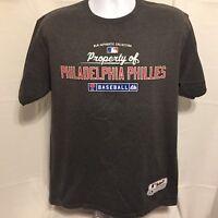 Majestic Property Of Philadelphia Phillies Mens T-Shirt Sz Large MLB Authentic