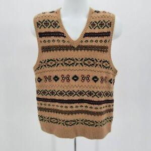 Vintage Polo by Ralph Lauren Hand Knit Camel Hair Blend V-neck Sweater Vest L