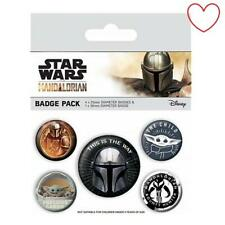 Disney Offizielle Star Wars Mandalorianer Abzeichen Packung 5 Button Anstecker