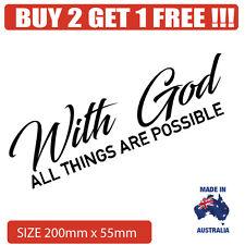 With God Religious Car sticker Decal Popular Christian sticker