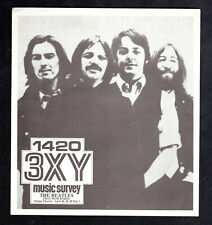 3XY TOP 40 MUSIC SURVEY CHART - THE BEATLES  April, 1977