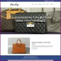 DESIGNER HANDBAG Website Business Earn £183.60 A SALE|FREE Domain|FREE Hosting