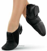 JAZZ DANCE SHOES SLIP ON 100% LEATHER  SPLIT SOLE HANDMADE MODERN STAGE JAZZ