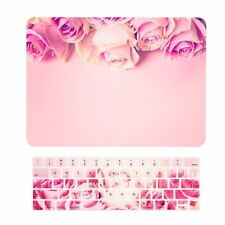 "Pink Rose Matte Case + Keyboard Cover for MacBook Pro 13"" Touch Bar A1989 /A1706"