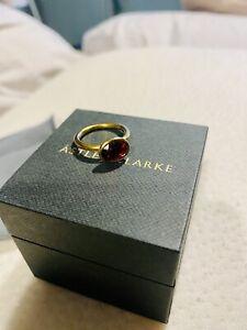 astley clarke Linia Rhodolite Ring - Gold Vermeil  Sz J