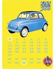 FIAT 500 PERPETUAL VINTAGE RETRO STYLE DISTRESSED METAL CALENDAR WALL SIGN