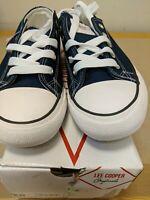 Lee Cooper Orig Canvas Ladies Size 5 Navy Blue Shoes Box Damage Ref L Racks