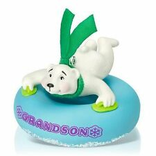Grandson 2015 Hallmark Keepsake Ornament  Polar Bear  Blue  Snow Tube  Sledding