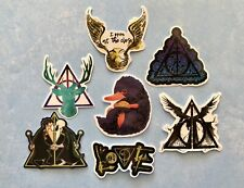 Harry Potter 7 Stickers Lot E~Deathly Hallows~I open at the close ~Laptop Vinyl