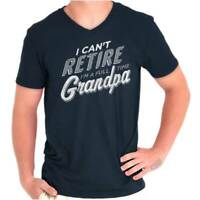 Retired Grandpa Fathers Day Grandfather Gift VNeck Tee Shirts TShirt For Mens
