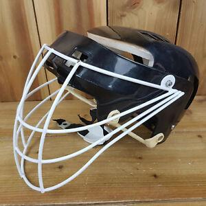 Lacrosse Helmet Black M/L Face + Chin Guard Padded Sports Wear Protection