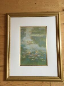 CLAUDE MONET, WATER LILIES, LITHOGRAPH, XLNT CONDITION. Free shipping.