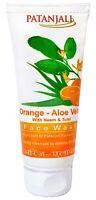 60 gm Herbal Orange Aloe Vera With Neem & Tulsi Face Wash From Patanjali
