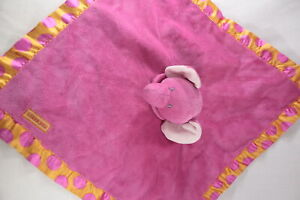 Carter's Pink and Orange Elephant SECURITY  BLANKET LOVEY Blankie Snuggie