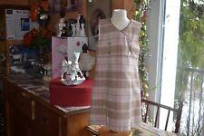 robe cyrillus 4 ans doublee 20% de laine beige rose tres beaux modele chaud