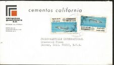J) 1972 MEXICO, PURE WATER, HEALTHY LIFE, MULTIPLE STAMPS, AIRMAIL, CIRCULATED C