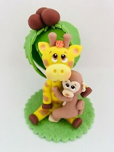 Giraffe and Monkey Cake Topper.
