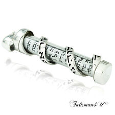 Judaica Silver MEZUZAH PENDANT & SCROLL with Shema Israel Holy Land Israel Gift