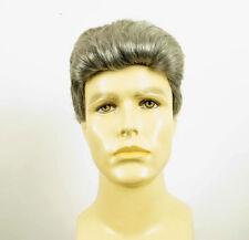 Perruque homme 100% cheveux naturel gris poivre et sel QUENTIN 44