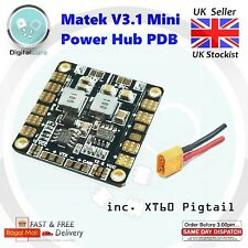 NEW V3.1 Matek Mini Power Distribution Board PDB 5V & 12V BEC + XT60 Pigtail FPV