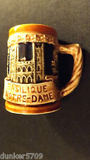 GIFTCRAFT MINIATURE BEER STEIN FEATURES VIEUX MONTREAL & NOTRE-DAME JAPAN 2 1/2""