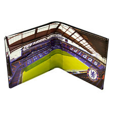 CHELSEA FC FULL COLOUR STADIUM DESIGN LEATHER WALLET PURSE NEW XMAS GIFT