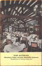 c1940s Interior Karl Ratzsch's Restaurant Milwaukee Wisconsin WI postcard view