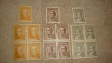 Lot 3 Argentina Stamp block 4 Sarmiento 486 Uquiza 525 Moreno MINT NH RARE