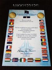 Articolo 5 NATO certificato medaglia Balcani in ottime condizioni