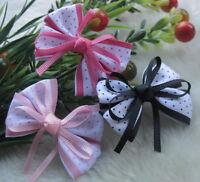 HOT Grosgrain Ribbon Flowers Bows Wedding Appliques Supply DIY Craft U pick E34