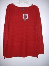WOMEN'S RED   BOAT NECK SWEATER - COVINGTON - SIZE XL - NEW WITH TAGS