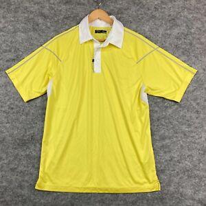 Callaway Mens Golf Polo Shirt Size Medium Yellow Short Sleeve Collared 109.17