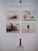 PUBLICITÉ 1996 ARPEGE L'EAU DE PARFUM DE LANVIN - ADVERTISING