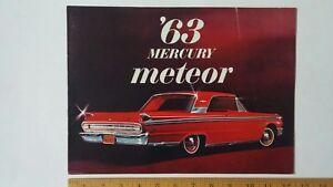 1963 MERCURY Meteor - Original Sales Color Catalog Brochure
