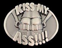 Kiss My Ass Belt Buckle Funny Bar Jokes Fun Humor Boucle de Ceinture