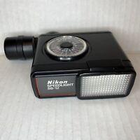 Nikon Speedlight SB-12 Vintage Camera Flash Black - Untested!