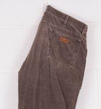 Vintage WRANGLER TEXAS Brown Straight Fit Men's Corduroy Jeans W36 L32