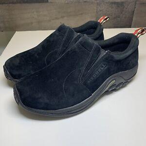 Merrell Men's Jungle Moc Slip-On Shoes, Midnight Black, Size 9.5 Wide (J63815W)