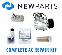 Complete AC A/C Repair Kit with New Compressor & Clutch for Honda Civic 1.7L