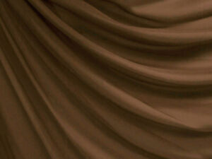 Clear Stock*W029 Middle Brown Chiffon Mesh Sheer Curtain Dress Fabric Material