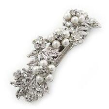 Rhodium Plated Pearl Costume Hair & Head Jewellery