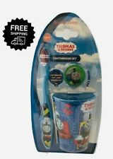 Thomas The Train Toothbrush Set 3 Piece Cup Soft Brush Kids Licensed Boys Girls