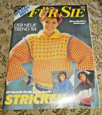 FÜR SIE Spezialheft Nr 171 von 1984 Stricken Strickheft Handarbeitsheft