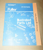 1979 Fuller RT-1110 Series Transmission Illustrated Parts List Manual P525R9