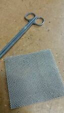 1 pack 10 x 10cm Stainless Steel Mesh Pad Aquarium plants/moss MARINE GRADE 306