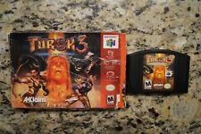 Turok 3: Shadow of Oblivion (Nintendo 64, 2000) * Game and Box *