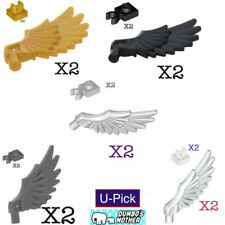 Lego WINGS w/ Clips FEATHERS ANGEL PEGASUS Bird Breastplate Shoulder Pads Studs