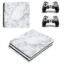 PS4 Pro Skin Sticker Decal Cover 2 Controllers MARBLE STONE