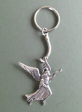 Angel Pewter Keyring, Archangel Gabriel, hand crafted, Angel motif 4.5 x  4 cm